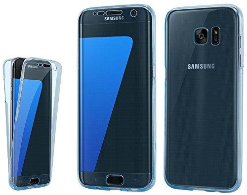 itronik Full Body 360° für Samsung Galaxy S6 Transparent Cover Hülle Hülle Schale Handy Tasche Schutz Etui Bumper - S6 blau