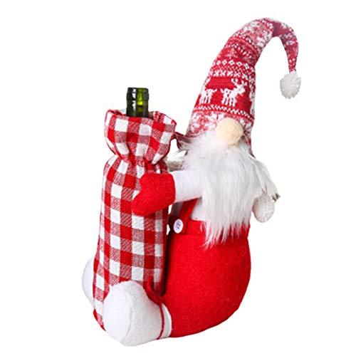 Coil-c - Funda para botella de vino, diseño de enano de Navidad
