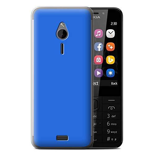 Stuff4 Handy Hülle kompatibel mit Nokia 230 Farben Blau Transparent Klar Ultra Sanft Flexibel Silikon Gel/TPU Hülle Cover