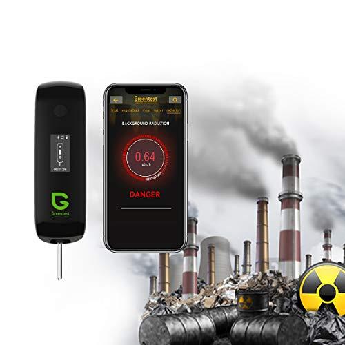 3in1 Mini Geiger Gegenstrahlungsdetektor + Nitrat-Tester + TDS Wasserzähler PPM-Tester für Gemüse, Obst, Fischfleisch, mit APP für Smartphone Android Google oder iOS Apple