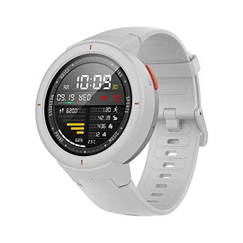 Amazfit Verge Reloj Inteligente SmartWatch con GPS Plus GLONASS, Rastreo de Actividad y Ritmo cardíaco Durante Todo el día,Realización y Respuesta de Llamadas telefónicas, IP68 a Prueba Agua (Blanco)