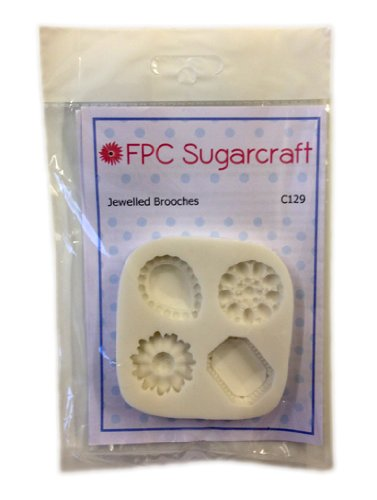 Jewelled Brooches - Cake Silicone Icing Mould for Cake and Cupcake Decoration.