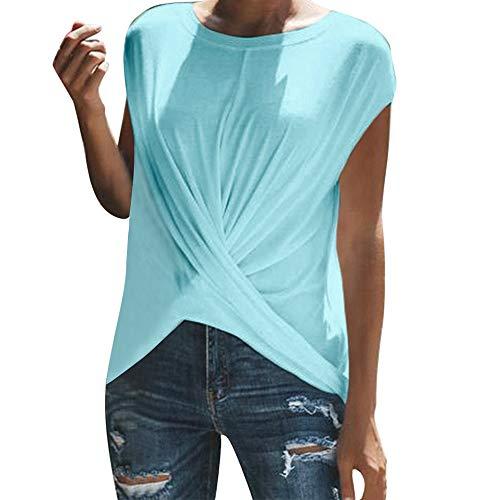 Kurzarm Blusen Damen Große Größen Locker Gerüscht Elegant Solid O-Neck Mode Frauen Sport T-Shirt Tanzen Sexy Oberteil Cool Streetwear Hemd Tunika riou Günstig
