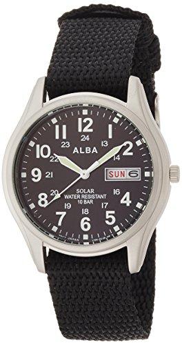 [セイコーウォッチ] 腕時計 アルバ ソーラー 日付・曜日表示付き ハードレックス ナイロンバンド AEFD557 メンズ