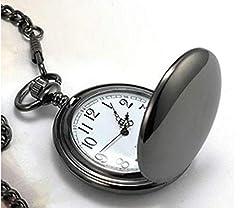YYSD 50Pcs / Lot Silver/Gold/Black/Bronze Polished Quartz Pocket Watch Steampunk Watches #3