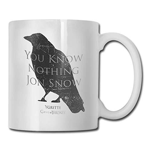 N / A You Know Nothing Jon Snow Coffee Mug, Cute Fathers Fun Cup White NurseFunny Coffee Mug