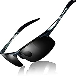 commercial DUCO Men's UV Protection Polarized Sports Sunglasses Sunglasses 8177s (Metal Frame Gray… polarized bifocal sunglasses