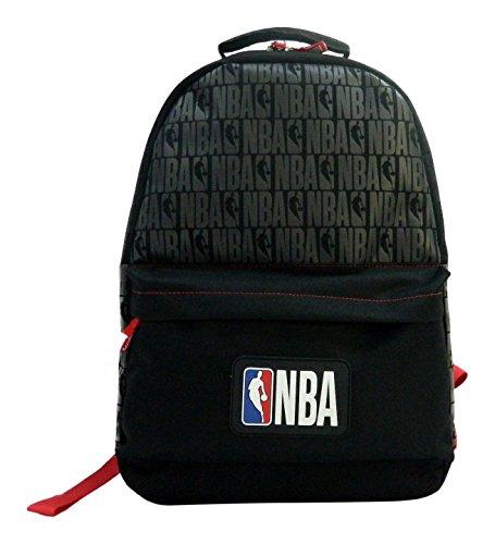 La Piuma Dorata 1Zaino a 1Scomparto NBA Unisex Bambino, Nero