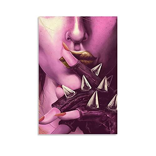 yuanse Lección en la violencia HD metal impresión póster decoración lienzo pared arte sala de estar dormitorio pintura 24 × 36 pulgadas (60 × 90 cm)