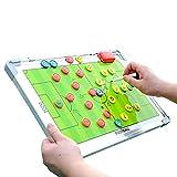 FTYYSWL Doble cara completo/medio fútbol táctico magnético entrenador tablero comando atleta competencia entrenamiento, regrabable