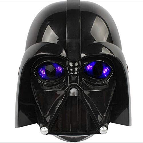 XWYWP Máscara de Halloween Máscara LED Luz Casco Halloween y Navidad Soldados Máscara Luminosa Negro