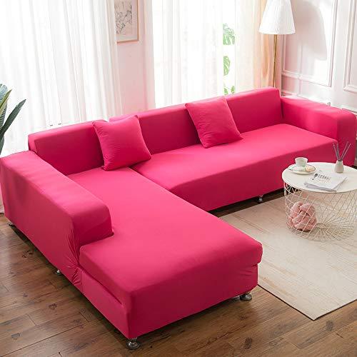 Funda elástica para sofá de poliéster de una sola pieza, funda protectora antideslizante y resistente al polvo, de 35 a 55 pulgadas
