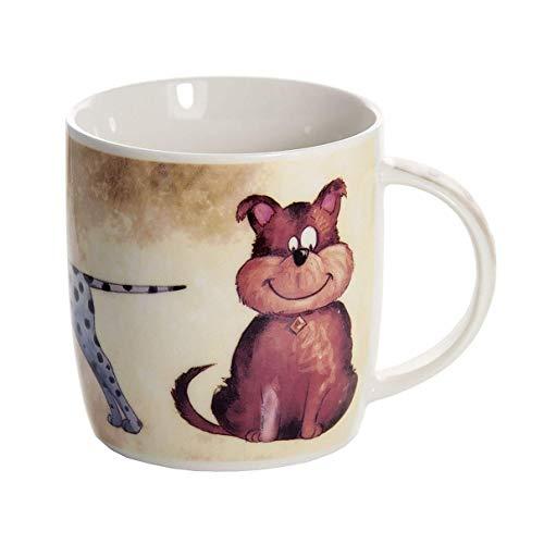 Tasse Hund Kaffeetasse Kaffeebecher mit Lustig Hundemotiv Geschenk für Hundeliebhaber Hundebesitzer Frauen Männer Kinder
