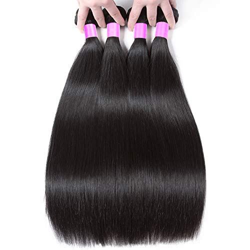 Flady Malaysian Hair 4 Bundles 14 16 18 20inch 8A Virgin Unprocessed Straight Human Hair Bundles Soft Malaysian Straight Hair