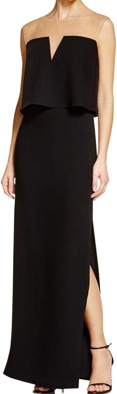 Bailey 44 Womens Dreams Mesh Sleeveless Maxi Dress Black XS
