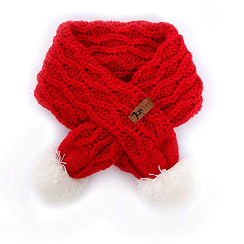 Buy and buy at Brandon Baby Scarf Winter Boy Baby Girl Soft Warm Wool Scarf Children's Wild Ball ScarfRedA