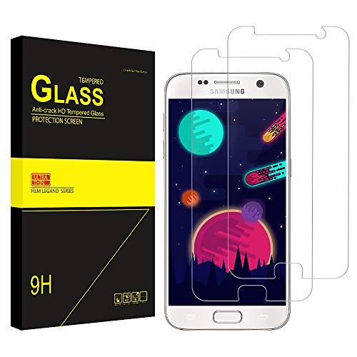 Bodyguard [2 Stück] Panzerglas Schutzfolie für Samsung Galaxy S7, Blasenfrei HD Klar Schutzfolie Glas, 9H Härte kratzfest Anti Fingerabdruck Panzerglasfolie Displayschutzfolie für Samsung S7