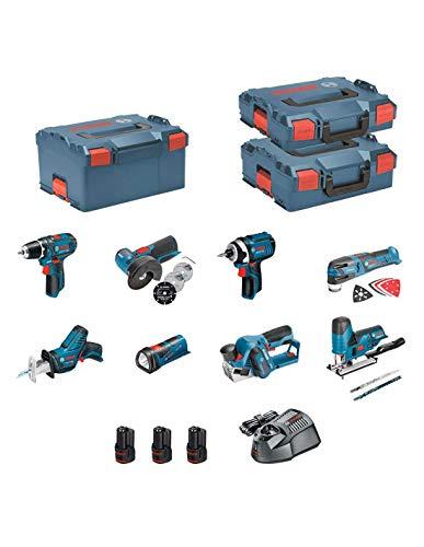 BOSCH Kit 12V BMK8-28DD3 (GSR 12V-15 + GDR 12V-105 + GWS 12V-76 + GST 12V-70 + GOP 12V-28 + GSA 12V-14 + GLI 12V-80 + GHO 12V-20 + 3 x 2,0 Ah + GAL1230CV + L-Boxx 102 + L-Boxx 136 + L-Boxx 238)