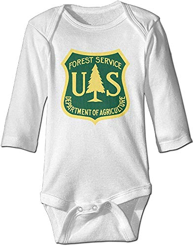 FGRFQ US Forest Service Shield Long Sleeve Baby Onesie Romper