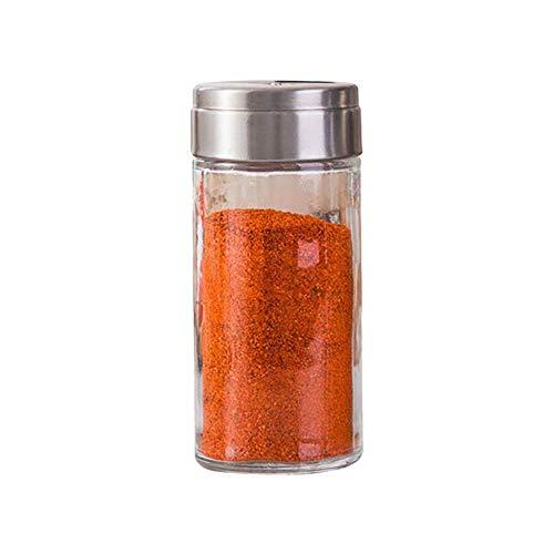JINGMEIQQ Tarro De Especias,Cocina Condimento De Vidrio A Prueba De Humedad De Botella Botella Sazonador De Pollo En Polvo Pimienta Sésamo Msg Azúcar Granulado Transparente Hogar Spice Jar