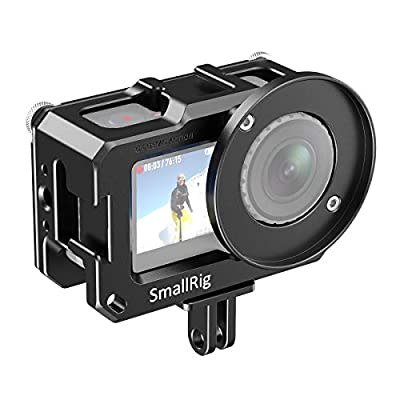 SmallRig Video Vlogging Camera Frame Cage for DJI Osmo Action Camera with Cold Shoe Mount, 1/4 Thread Hole Compatible with 52mm Adapter for Lens, Prevent The Screen from Scratching – CVD2475 by SmallRig