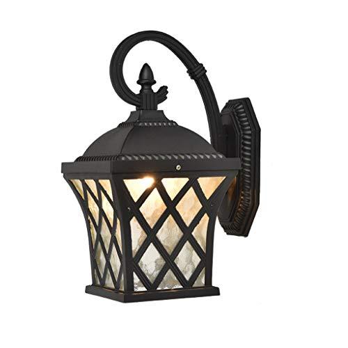 Waterdichte wandlamp voor buiten, zoals ZS, outdoor-wandlamp, stroomvoorziening, moderne vintage, glazen wandlantaarn, led-tuin, veiligheidsverlichting, aluminiumlegering, buitenwandlamp voor hal en deur B