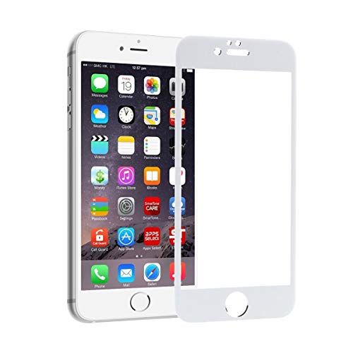 Unicorn 3D White Curved Tempered Glass Full Screen Clear Transparent Edge to Edge Fit Screen Protector 6H Hardness Fingerprint Resistant Scratch Protection for iPhone 5 5S SE 4 Inch Gorilla Display