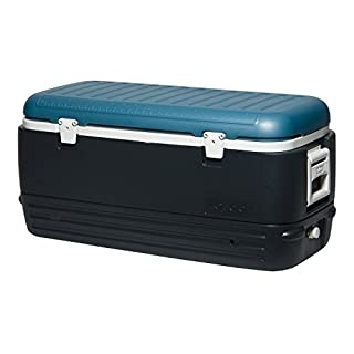 Igloo MaxCold 120 Qt Cooler 120 Qt, Jet Carbon/Ice Blue/White (B01ATD3Z5Y) | Amazon price tracker / tracking, Amazon price history charts, Amazon price watches, Amazon price drop alerts