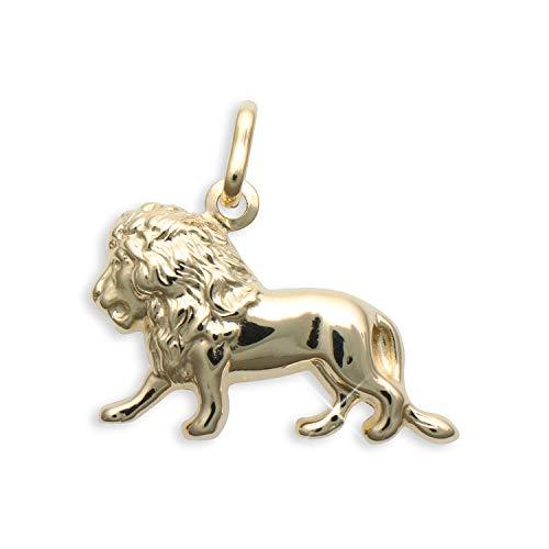 Kleiner Löwe Charms Anhänger 14 Karat Gold 585 (Art.206200)