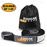 KODIAK STRAPS Tow Strap – 3'' x 30ft Car Tow Straps Heavy Duty with 30000 lbs. Break Strength and Reinforced Loops Emergency Rope Off Road Recovery Equipment Towing Straps Draw String Bag Included