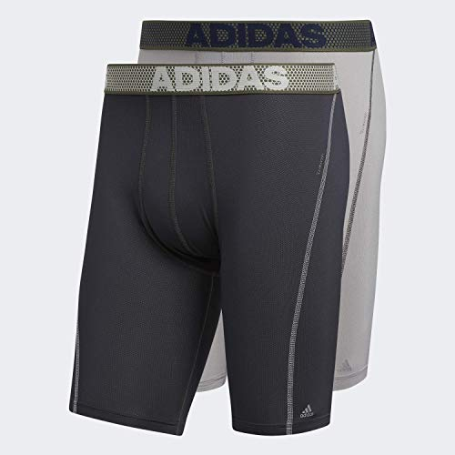 adidas Herren Sport Performance Mesh Midway Unterwäsche (2er-Pack), Light Onix / Night Grey Night Grey / Light Onix, Medium