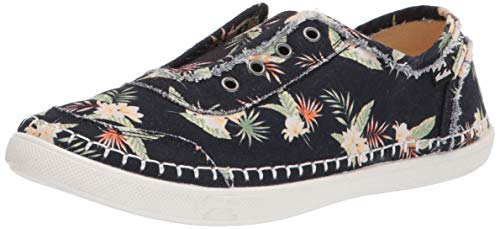 Billabong Women's Cruiser Slip-On Canvas Shoe Sneaker, black pebble, 6.5