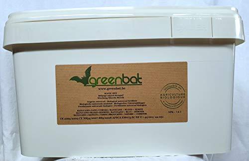GREENBAT 8 kg pulver NPK 7-6-3 Biologische Düngemittelmischung aus Fledermaus Guano, Blutmehl und Rinderhörnern.
