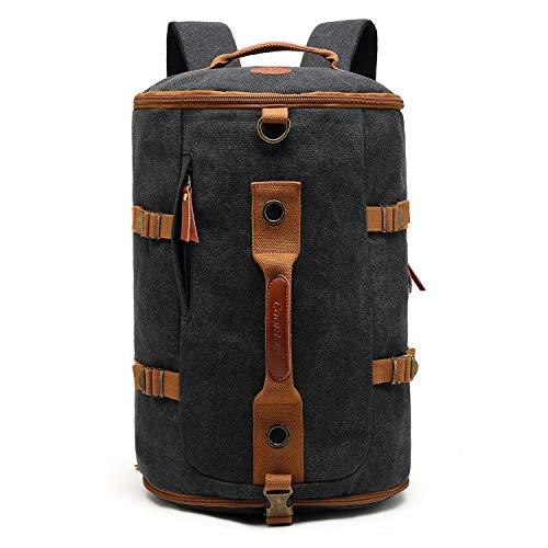 CoolBELL umwandelbar Sport Rucksack Tasche Herren Umhängetasche Messenger Bag Business Aktentasche leicht Schultertasche Travel Backpack Reisen Tasche Passend 17,3 Zoll Laptop(Canvas Schwarz)