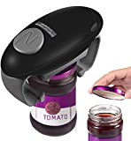 Electric Jar Opener, Restaurant Automatic Jar Opener for Seniors with Arthritis, Weak Hands, Bottle Opener for Arthritic Hands(Black)