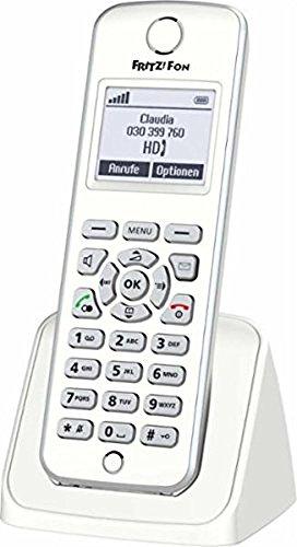 AVM FRITZ!Fon M2 DECT-Komforttelefon (für FRITZ Box Monochromes Display, HD-Telefonie) deutschsprachige Version (Zertifiziert und Generalüberholt)