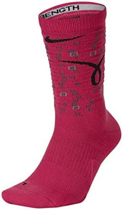 Nike Elite Crew Pink Black Kay Yow Dri Fit Basketball Socks Large product image