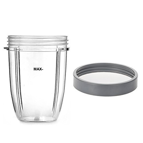 18 oz Short Cup with Screw off Comfort Lip Ring for Nutribullet