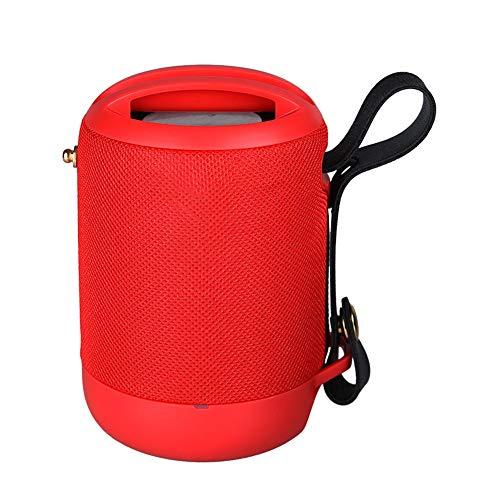 Z-XFY Tragbare Bluetooth-Lautsprecher, drahtlose Bluetooth-Lautsprecher-Telefon-Halter Subwoofer Auto-Außen Kreative Wasserdicht Carry-Karte Audio 1500Mah Startseite,Rot