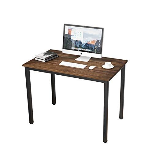 SogesHome Computertisch 100 x 60 x 75 cm PC Bürotisch Schreibtisch Schreibtisch für Home Office Esstisch, Walnuss SH-LD-AC100WN