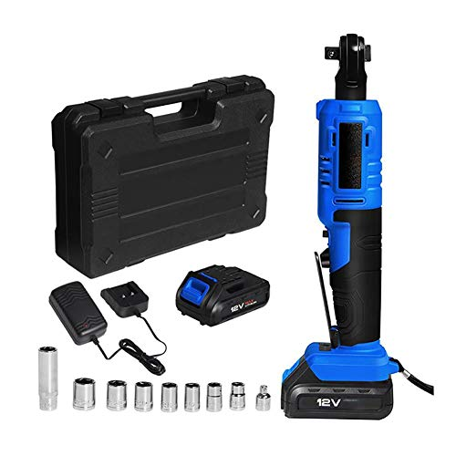 LOPP Electric Ratchet Wrench kit, Cordless Electric Wrench 12V 3/8 Ratchet Wrench/LED Glare Lighting, Used to Remove Screws and Nuts, Corner Drill Screwdriver for auto Repair Tools