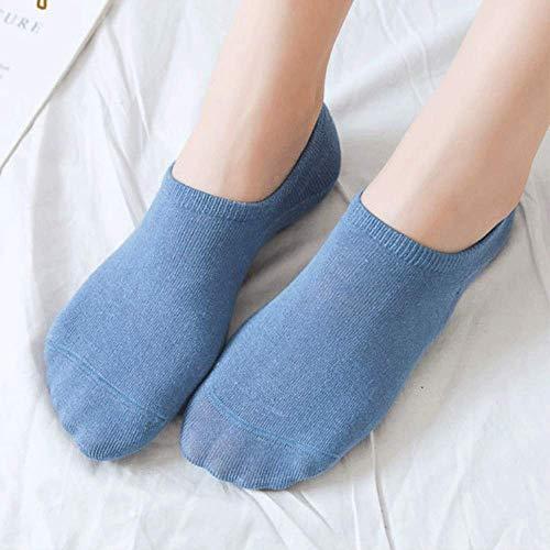 LHJY Calcetines De Primavera Y Verano Calcetines De Barco para Mujer Calcetines De Boca Baja De Color Sólido (10 Pares)