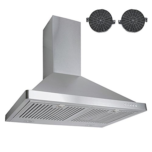 "760 CFM Ductless Wall Mount Range Hood in Silver Size: 41.7"" H x 30"" W x 18.9"" D"