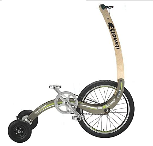 ASEDF Bicicleta Plegable, Triciclo de 20 Pulgadas en Bicicleta de Deportes de Giro Tipo de pie Green