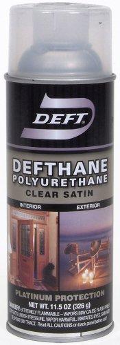 Deft Defthane Interior Exterior Clear Polyurethane Satin Spray, 11.5-Ounce Aerosol