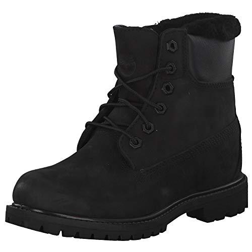Timberland - Premium Damen-Stiefel, 6 Zoll, mit Wolle gefüttert, Schwarz - Schwarz - Größe: 37 EU