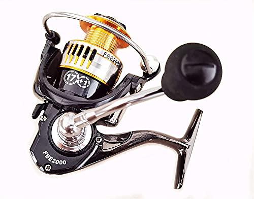Pesca de fundición Duradera 17 Cama Y Desayuno Spinning Reel Metal Rotor Metal Spool, Ratio de Engranajes 5.0: 1 Carrete de Pesca (Tamaño : FBE5000)