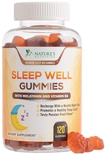 Sleep Support Melatonin Gummies Extra Strength Sleep Gummy - Natural Adult Sleeping Pills - Best Vegan Non Habit Forming Sleep & Stress Support Supplement - 120 Gummies