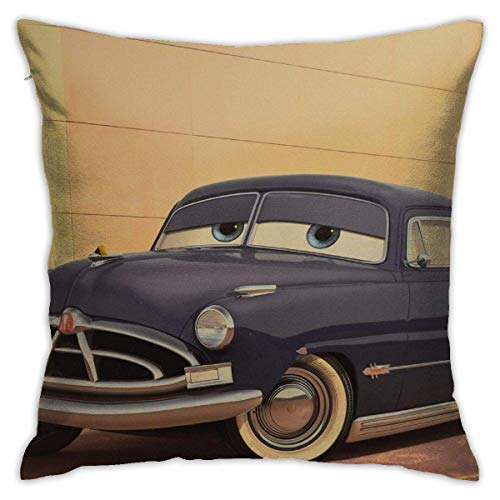 HOJJP Doc Hudson Paul Newman Doctor Hudson Hornet Home Decorative Throw Pillow Covers Bed Sofa Couch Cushion Square Pillow Case 18x18 Inch
