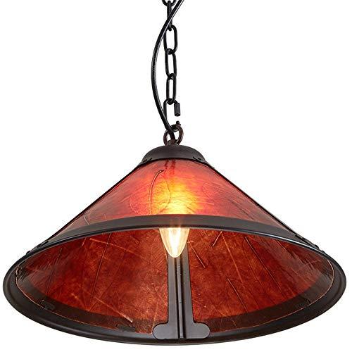 Industrie Jahrgang Kupfer Mica Lampenschirm Antike Eisen-Anhänger-Licht Land amerikanische landwirtschaftliche Deckenhängeleuchten Bar Cafe Droplight Dekor E27 Sockel